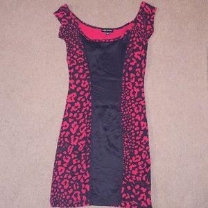 Bebe Sport Stretch Panel Print Dress Size: XS